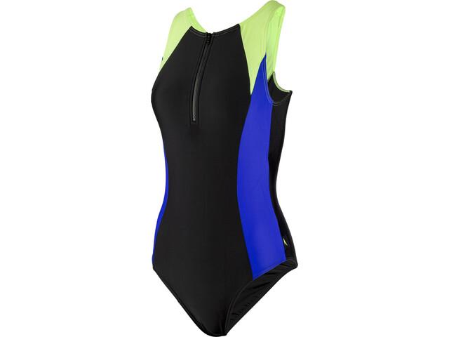 2d04748947d9 speedo Hydrasuit Mujer, black/blue